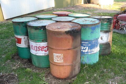 44-gallon drums x 9