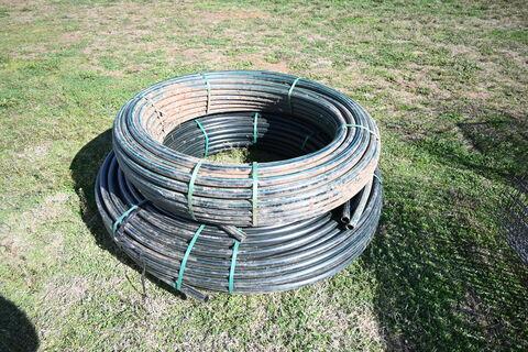 Ag Poly Pipe - 2 rolls smaller diameter