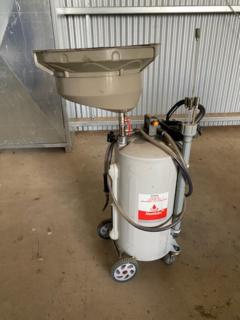 Alemlube (2009C) mobile waste oil drainer/extractor unit