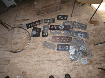 Wool Stencils and Shearing Sling