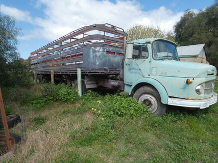 Mercedez Benz Prime Mover and Stock Crate & Trailer