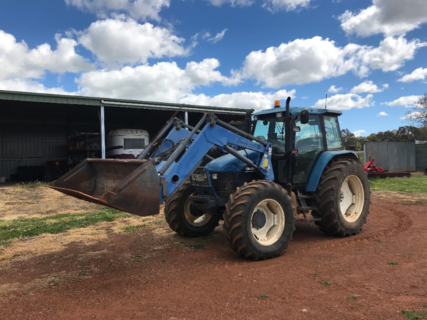 2002 New Holland TS115 With Front End Loader