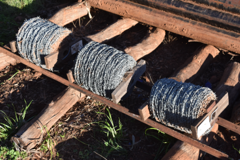 3x part used rolls barb wire