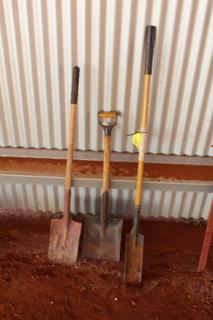 Assorted shovels