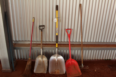 Shovels and brooms