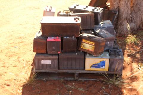 Pallet of batteries