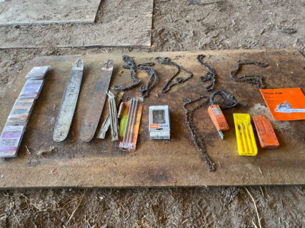 ASSORTED CHAINSAW SUNDRIES