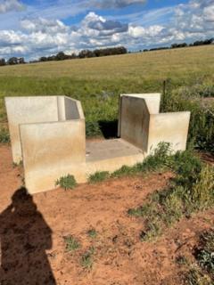 Concrete Irrigation Stop