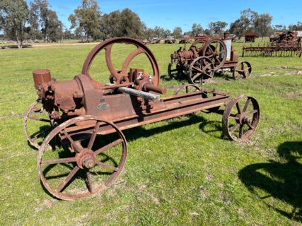 Ruston Hornsby 6hp Engine No. 52643 on Transport. Missing Parts