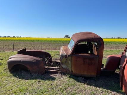 Antique Truck Skeleton