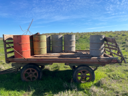 Wooden Cart with Drums