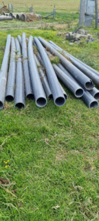 15 LENGTHS OF 145 ID PVC PIPE APPROX. 6M LONG