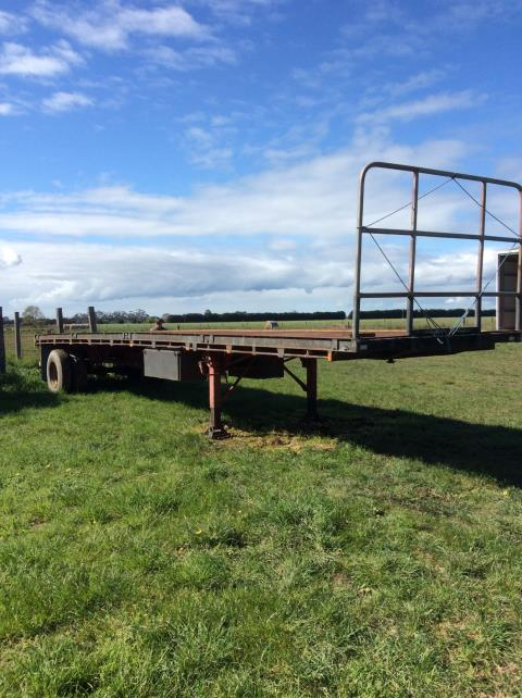 36Ft Freigh Single Axle Strap Flat Top Trailer