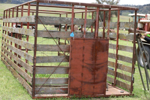 timber crate and stands