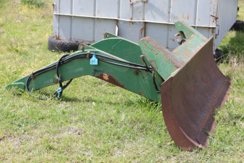 side tilt over axle blade