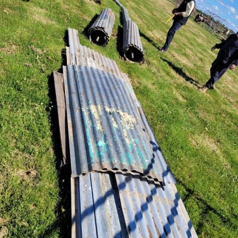 Corrugated Iron & 2 x Roller Doors @ 2.5m