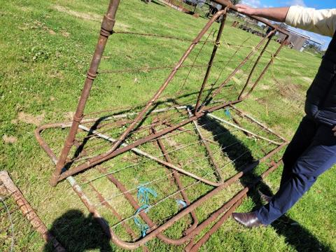 Vintage Wire Farm Gates x 3