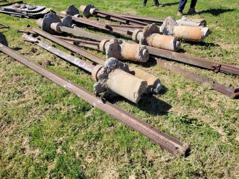 Railway Iron Shed Posts 11 x 17Ft