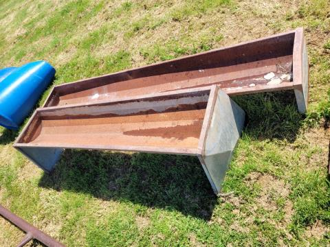 2 x Steel Feed Troughs 6ft & 8ft