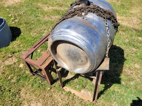 Small Fuel Tank on Stand