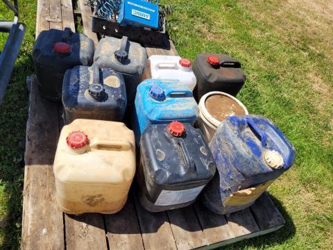 Assorted Dairy Chemicals & Vacuum Pump Oil