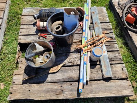 Assorted Dairy Ware & 2 Fence Units