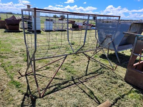 Small Square Bale Hay Feeder on Skids