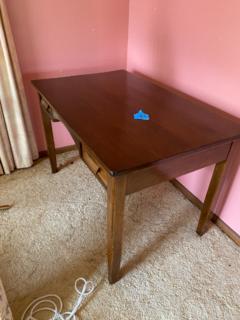 Antique timber desk 2 drawer