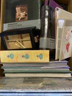 photo albums and jewellery box