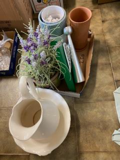 Pots, water jug and bowls