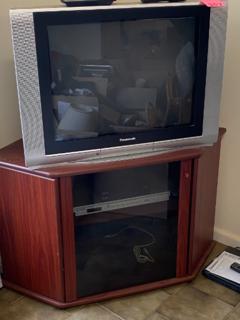 tv/corner cabinet, dvd player, set top box