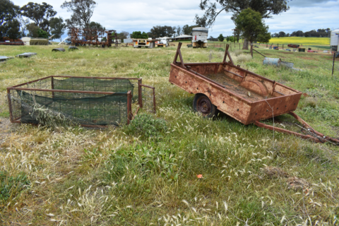 Old box trailer