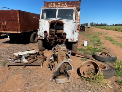 Grain bin on Albion Truck