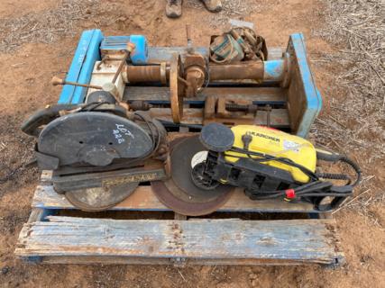 Drop saw, drill press, etc