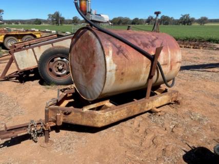 Fuel tank on frame
